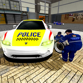 Police Car Mechanic Workshop icon