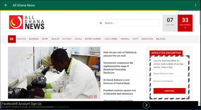 Ghana News 24 apk screenshot