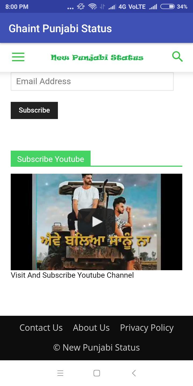 Ghaint Punjabi Status-Facebook Punjabi Status App for