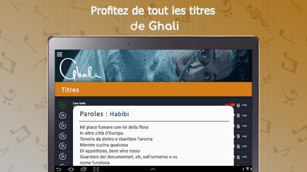Ghali : songs, lyrics,..offline screenshot 15
