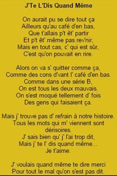 Free Lyrics Patrick Bruel apk screenshot