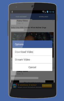 Download Facebook videos HD apk screenshot
