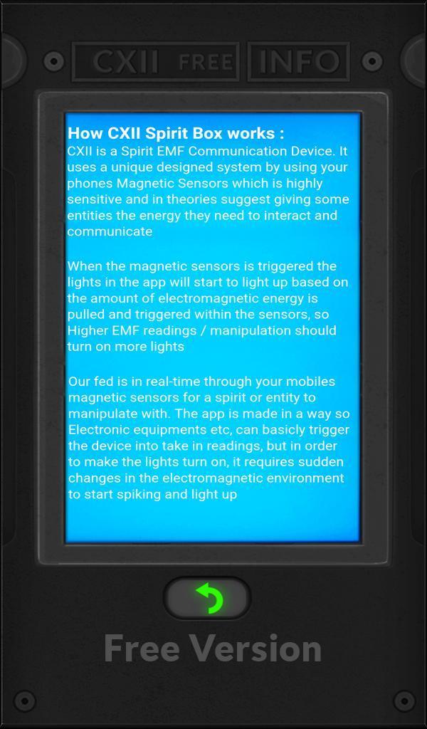 CXII EMF Free Spirit Box for Android - APK Download