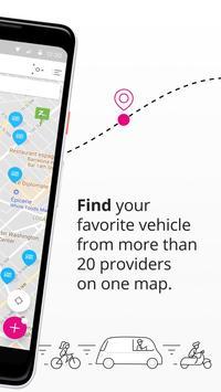 Schermata apk Free2Move compara e prenota auto scooter bici taxi