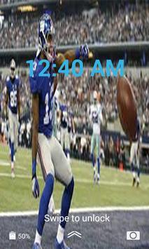 Gaints Lock Screen Live Wallpaper screenshot 1
