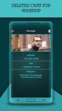 Deleted Chat For WhatsUp poster