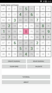 Sudoku solver and creator poster
