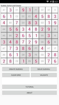Sudoku solver and creator screenshot 1