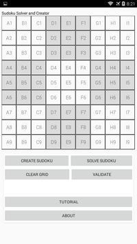 Sudoku solver and creator screenshot 2