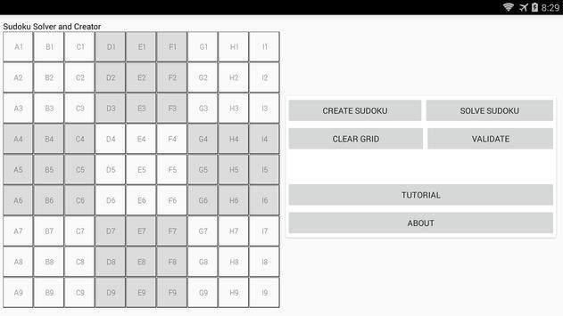 Sudoku solver and creator screenshot 4