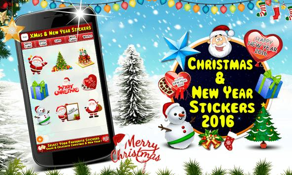 Christmas & New Year Stickers poster