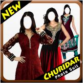 Women Churidar Photo Suit icon