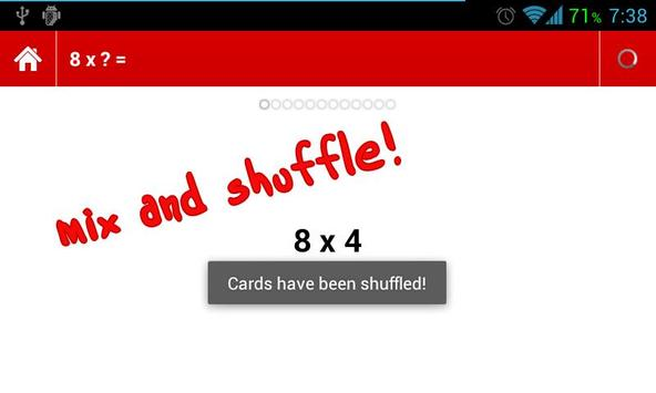 Times Tables Flashcards apk screenshot