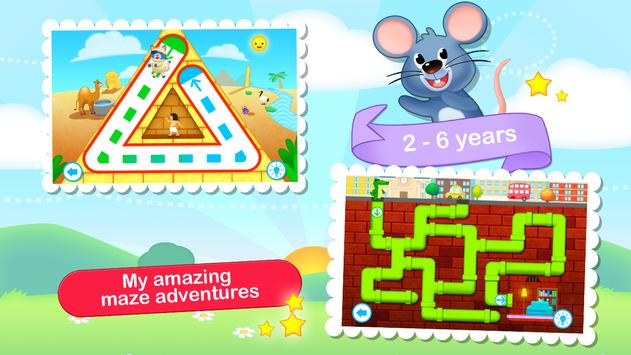 Toddler Maze 123 for Kids Free poster