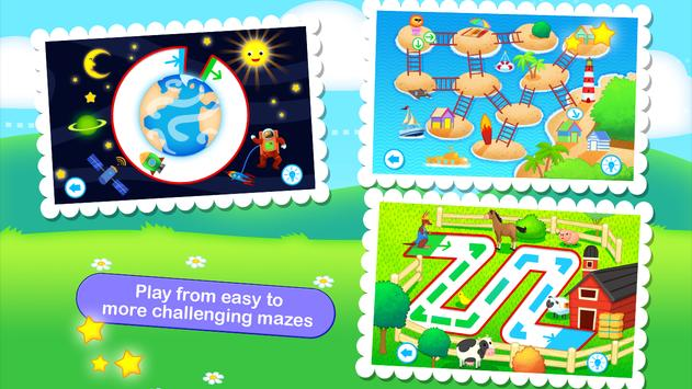 Toddler Maze 123 for Kids Free screenshot 1
