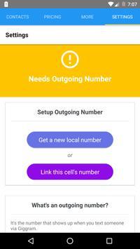giggram: Share/assign jobs SMS (Unreleased) screenshot 1