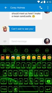 Emoji Keyboard-Toxis Green apk screenshot