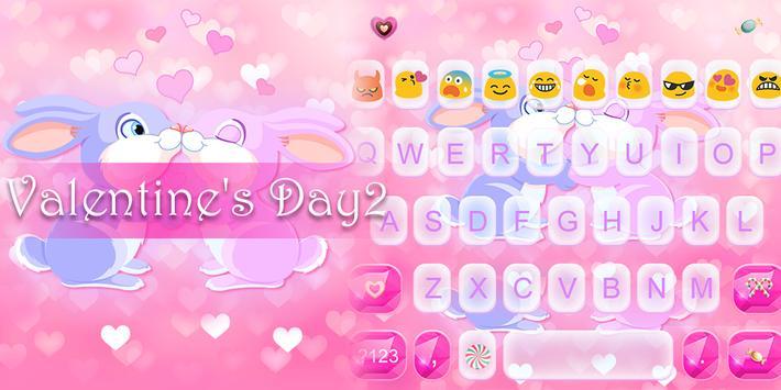 Valentine's Day Emoji Keyboard poster