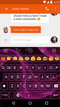 Emoji Keyboard-Pink Violet apk screenshot