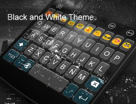 Emoji Keyboard-Black And White apk screenshot