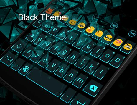 Emoji Keyboard-Blue Crystal apk screenshot