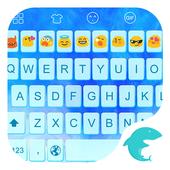 Emoji Keyboard-Blue icon