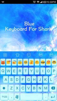 Emoji Keyboard-Blue apk screenshot