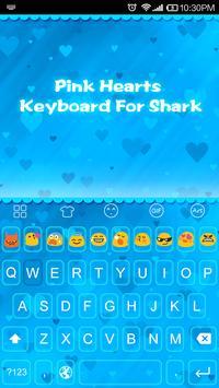 Emoji Keyboard-Blue Hearts poster
