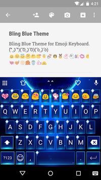 Blue Space Emoji Keyboard poster