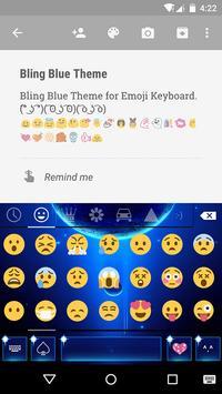 Blue Space Emoji Keyboard screenshot 1