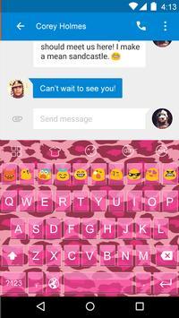 Gif Keyboard-Beautiful Cheetah apk screenshot