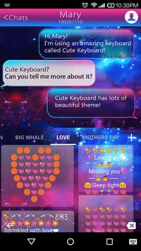 Emoji Keyboard-Color Galaxy apk screenshot