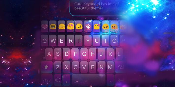 Emoji Keyboard-Color Galaxy poster