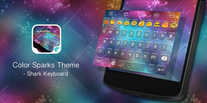 Emoji Keyboard-Color Sparks poster