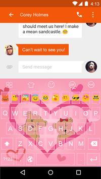 Emoji Keyboard-Cute Beer apk screenshot