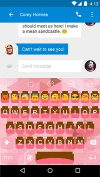 Emoji Keyboard-Cute Pink apk screenshot