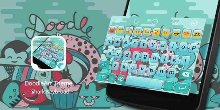 Emoji Keyboard-DoodleArt poster