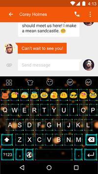 Emoji Keyboard-Electric apk screenshot