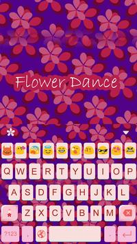 Flower Dance Gif Keyboard apk screenshot