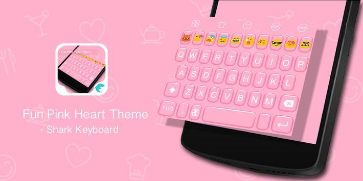 Emoji Keyboard-Fun Pink Hearts poster