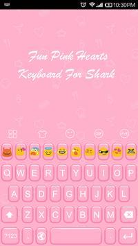 Emoji Keyboard-Fun Pink Hearts apk screenshot