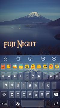 Emoji Keyboard-Fuji Night apk screenshot