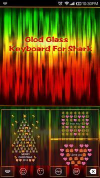Emoji Keyboard-Glod Glass apk screenshot