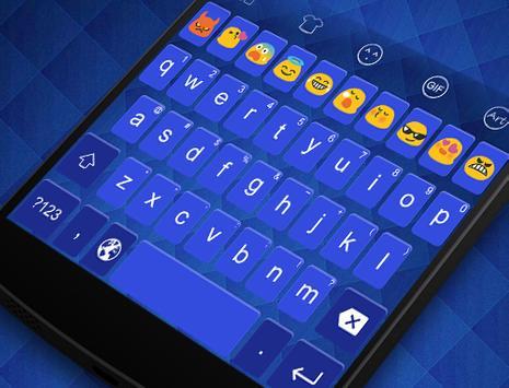 Emoji Keyboard-Blue Space apk screenshot