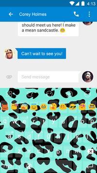 Emoji Keyboard-Leopard apk screenshot