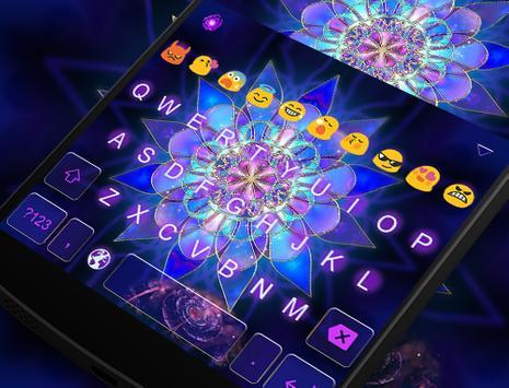 Emoji Keyboard-Magic Flower apk screenshot