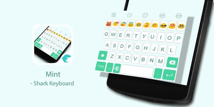 Emoji Keyboard-Mint poster