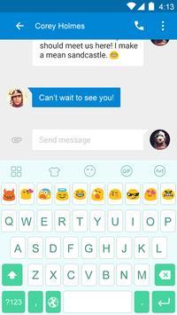 Emoji Keyboard-Mint apk screenshot