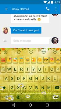 Emoji Keyboard-Nature apk screenshot