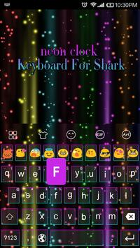 Emoji Keyboard-Neon Night apk screenshot